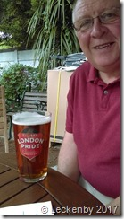 A pint in the Fox in Hanwell, Mick's old local