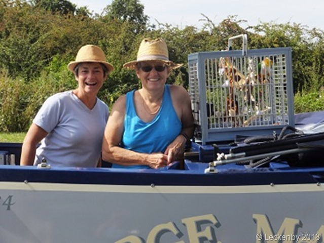 Alison, Laura and Jaffa on the New Junction Canal