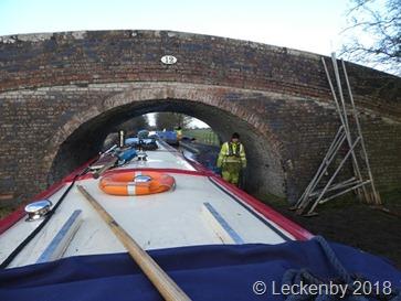 Going under bridge 12